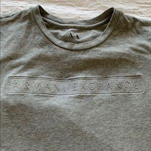Men's Armani Exchance gray shirt size Meedium